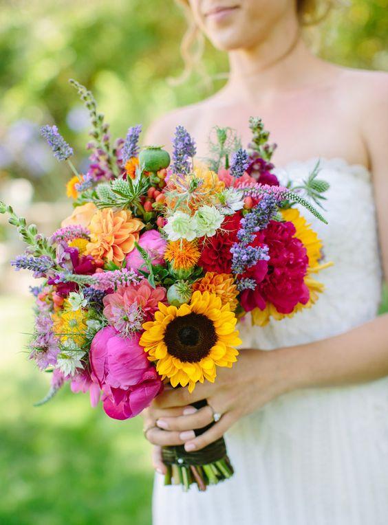 wedding colour scheme - summer colours