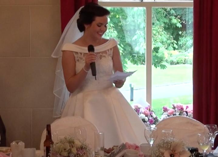 brides speech - ni wedding videos
