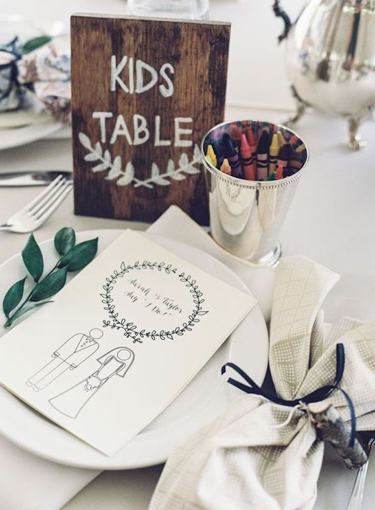 kids table at a wedding