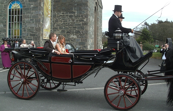 eco-friendly wedding ideas - horse and carriage