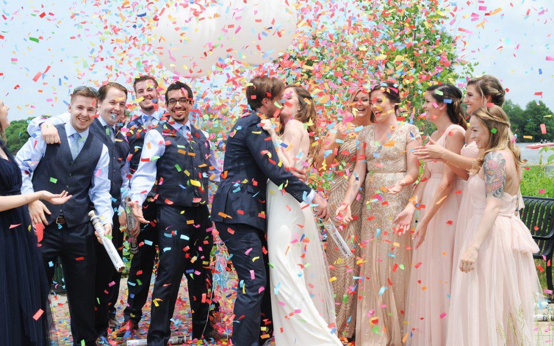 Kamaara Wedding Videos confetti